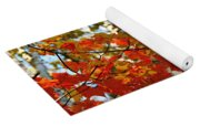 Maple Leaves And Birch Bark Yoga Mat