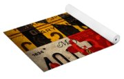 Maryland State Flag Recycled Vintage License Plate Art Yoga Mat