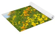 Meadow Hillside Poppy Flowers 8 Poppies Artwork Gifts Yoga Mat