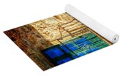 Medieval Spanish Gate And Balcony - Vintage Version Yoga Mat