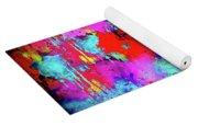 Melting Flowers Abstract  Yoga Mat