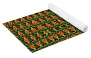 Mexican Poppy Field Abstract Yoga Mat