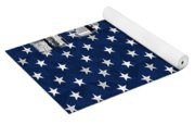 Modern City Scape American Flag Yoga Mat