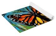 Monarch With Milkweed Yoga Mat