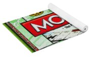 Monopoly Board Game Painting Yoga Mat