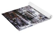 Moored Boats In Maine Winter  Yoga Mat