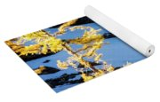 Mountain Goat And Larches Yoga Mat