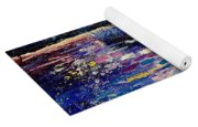 Mysterious Blue Pond Yoga Mat