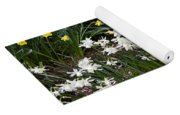 Narcissus And Daffodils In A Spring Flowerbed Yoga Mat