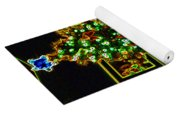 Neon Christmas Tree Yoga Mat