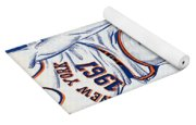 New York Knicks V Boston 1967 Playoff Program Yoga Mat