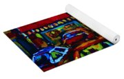 Nightlights On Main Street Yoga Mat