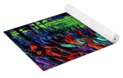 Northern Lights Embracing Poppies Yoga Mat