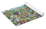 Northern Virginia Map Illustration Yoga Mat