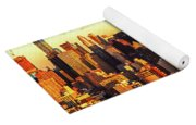 Nyc West Side Skyscrapers At Sundown Yoga Mat