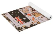 Old Australia In Stamps Yoga Mat