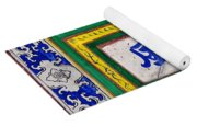 Old Chinese Wall Tile Yoga Mat