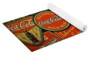 Old Coca-cola Sign Collage Yoga Mat
