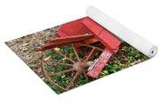 Old Garden Wheel Barrow Yoga Mat