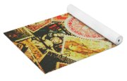 Old New Zealand Stamps Yoga Mat