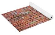 Old Red Brick Wall Yoga Mat