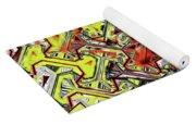 One Version Yellow And Red Abstract Yoga Mat