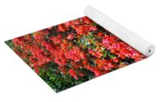 Orange And Colral-pink Flowers 2 Yoga Mat