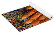 Orange Wooden Hand Holding Paperclips Yoga Mat