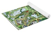 Orlando Florida Cartoon Map Yoga Mat