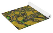 Oval Abstract Maple Leaf  Yoga Mat