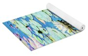 Painted North American White Water Lily Yoga Mat