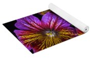 Painted Tongue With White Butterfly Yoga Mat