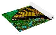 Painted Yellow Swallowtail Yoga Mat