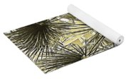 Palm Tree Pen And Ink Grayscale With Sepia Tones Yoga Mat