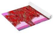 Palms In Red Yoga Mat
