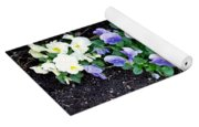 Pansies Yoga Mat