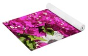 Papery Pink Riot Yoga Mat
