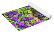 Patch Of Pansies Yoga Mat