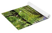 Path Through Bluebell Wood Yoga Mat