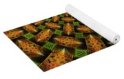 Pattern Brown With Green Yoga Mat