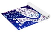 Peace Holiday Card Yoga Mat