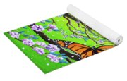 Peace Tree With Monarch Butterflies Yoga Mat
