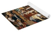 Peasants Paying Tithes By Pieter Bruegel I Yoga Mat