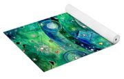 Universe Inside Of Electrons. Periodic Table Of The Elements Yoga Mat