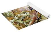 Pheasants In Woodland Yoga Mat