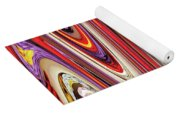 Pine Cone Flower Abstract Yoga Mat