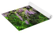 Pink And White Wisterias Yoga Mat