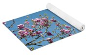 Pink Blossom And Glasshouse Yoga Mat