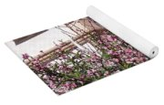 Pink Flower Tree. Elegant Yoga Mat