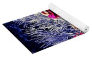 Pink Zinnia's Against A Silver Background Yoga Mat